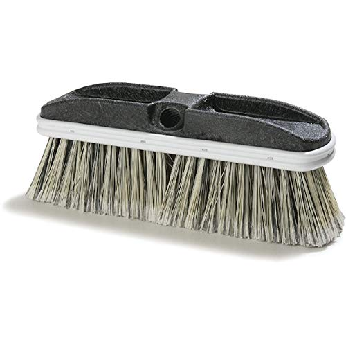 Carlisle 3646600 Flo-Thru Plastic Block Brush, Flagged Polystyrene Bristles, 2.38