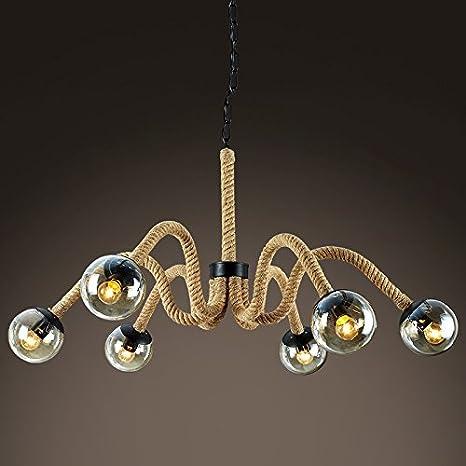 Viento industrial americano pueblo forja cuerda lámpara ...