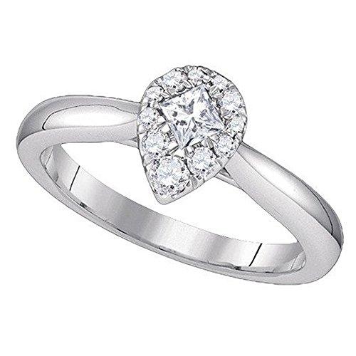 0.39 Ct Princess Diamond - 8