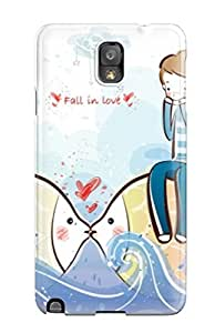 New Premium Flip Case Cover First Time Falling In Love Skin Case For Galaxy Note 3