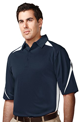 Tri-Mountain Men's Performance Polyester Birdseye Mesh Polo Shirt -