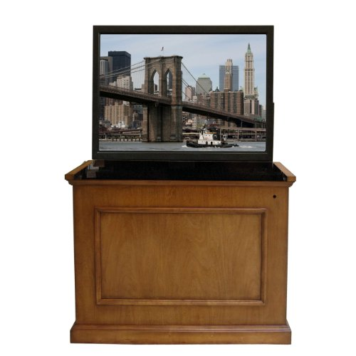 Touchstone Home Elevate Television Lift Cabinet – Warm Honey Oak Finish – For 50