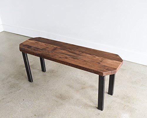 Fantastic Amazon Com Modern Clipped Corner Bench Post Steel Legs Inzonedesignstudio Interior Chair Design Inzonedesignstudiocom