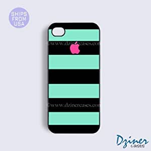 iPhone 5 5s Case - Black Green Pink Stripes iPhone Cover
