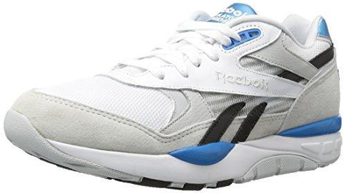Reebok Men's Ventilator Supreme Clr Fashion Sneaker, White/Skull Grey/Black/Azure, 9.5 M US (Footwear Azure)