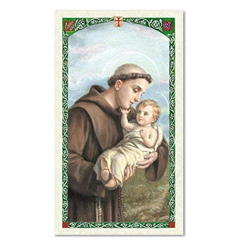 - St Saint Anthony Marriage Saint Laminated Prayer Card Blessed by Pope Francis