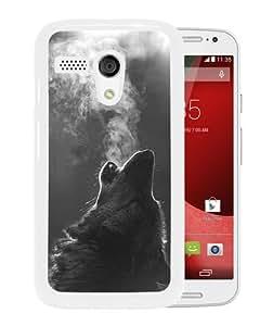Popular Custom Designed Case For Motorola Moto G With Winter Wolf Howling White Phone Case