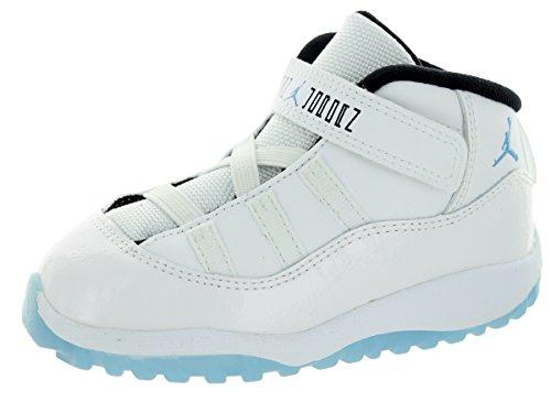 Jordan Nike Toddlers 11 Retro Bt White/Legend Blue/Black Basketball Shoe 8 Infants US ()