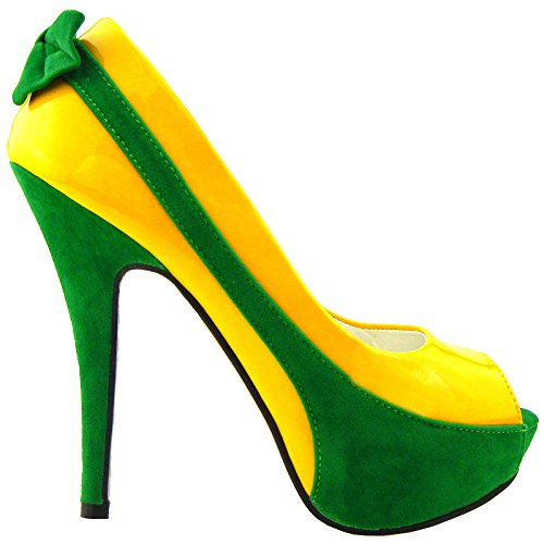 Show Story - punta abierta mujer Amarillo - amarillo