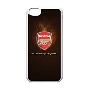 Sports asenal only one iPhone 5c Cell Phone Case White gift zhm004-9244392