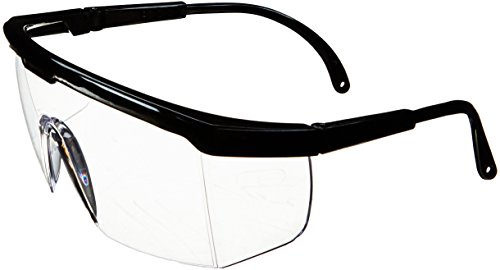 SAS Safety 5270 Hornets Eyewear Hornet Safety Glasses with Polybag, Clear Lens/Black Frame (Pack of 12)