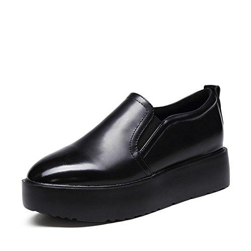 Le Fu, zapatos de suela gruesa/Plano redondo dedo del pie/Fija los pies zapatos A