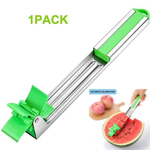 Watermelon Windmill Cutter Stainless Steel Fruit Windmill Slicer Kitchen Tools for Cutting Melon Cantaloupe Easy to Clean