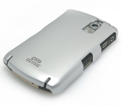 - Cozip Brand Rubberized Polycarbonate Snap On Back Slim fit Case Cover for RIM BlackBerry Curve 8300 series 8300 / 8310 / 8320 / 8330 ( Silver ) - Made in Korea