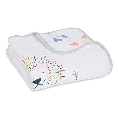 aden + anais Dream Blanket, 100% Cotton Muslin, 4 Layer lightweight and breathable, Large 47 X 47 inch, Leader Of The Pack