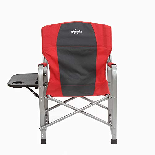 - Kamp Rite Outdoor Camping Tailgating Folding Director's Chair w/Side Table (Red)