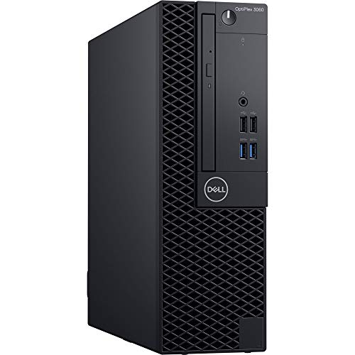 Dell OptiPlex 3060 SFF Desktop Computer with Intel Pentium Gold G5400 3.7 GHz Dual-Core, 4GB RAM, 500GB HDD (856J8)