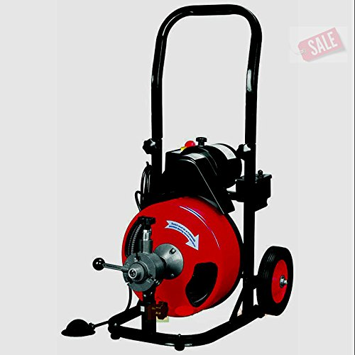 Drain Cleaner Snake Machine Commercial 50FT 1/2'' Electric Drain Auger With Cutter - Skroutz by Unknown