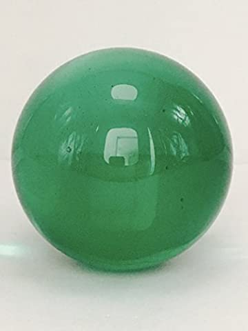 Feng Shui Meditation Crystal Ball Sphere Healing 70MM by Sunrise Crystal (Green) (Solid Glass Ball)