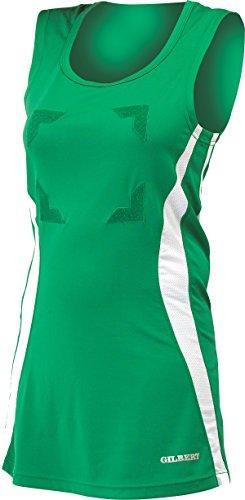 Chemise Manche Gilbert Eclipse Green Sans blanc Robe Netball Fermeture Decolleté Femmes Scratch Top Bib xRzCqUwxT