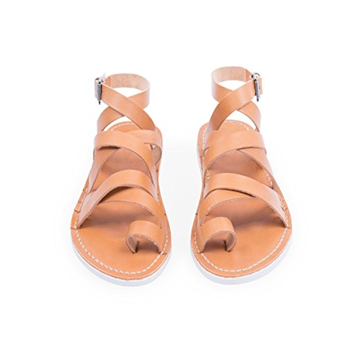 Shoe Taily Cognac Leather Sandals Steve W Women's Sneaky 6Iqw5Rxn