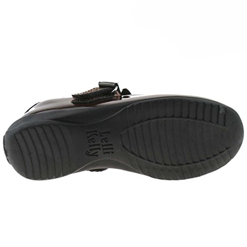 Lelli Kelly LK8300 (DJ01) Brown Patent Charlotte School Shoes F Fitting-31 (UK 12.5)