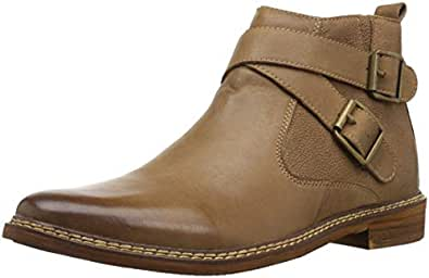 Steve Madden Men's Tipoff Ankle Boot, Camel Leather, 10 M US