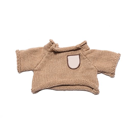 Knit Teddy Bear Sweater (YaToy Knit Bear Sweater Clothes Fit 15-59 inch Stuffed Animals Outfits Unisex Girls Doll Shirt Bundle Brown)