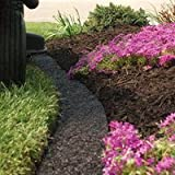 A.M. Leonard Recycled Rubber Mulch Edging in Dark Brown - 8 Foot