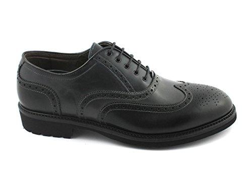 Grau Britisches Nero Nero Männer Black Schwarzer Gardens Derby Giardini 05272 Kleid Schuhe der Leder ggx4vIq