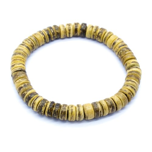 - Tiger Brown Coco Bead Bracelet (8 IN)