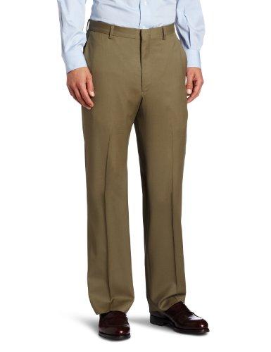Joseph Abboud Men's Flat Solid Front Dress Pant