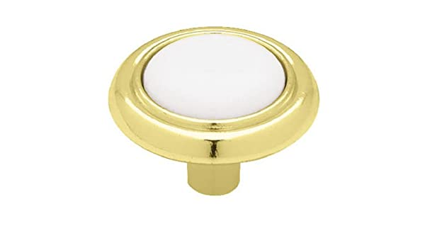 Brainerd P50081V-CHW-C7 1-1//4-Inch Ceramic Insert Round Cabinet Hardware Knob