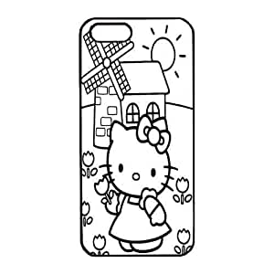 Iphone 5s Case,Hard PC Iphone 5s Protective Case for Ultimate Protect iphone 5s with hello kitty coloring pages