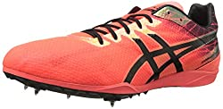 ASICS Men's Cosmoracer LD Track Shoe, Flash Coral/Black, 13 M US