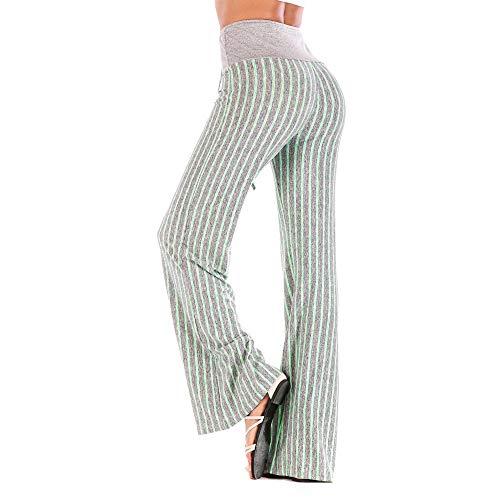 De Largo Cintura Invierno Pierna Mujeres Rayas Salón Elástico Stretch Pana  Raya Mujer Leggings Yoga Pantalones ... cf7b72541422