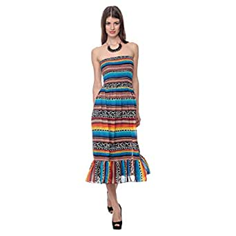 Cocum Maritima Tube Night Out Dress For Women - 8 Uk, Multi Color