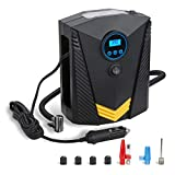 Amagle Portable 12V DC 120W Tire Air Compressor Pump Auto Tire Inflator for Car Motocycle Bicycle wheels