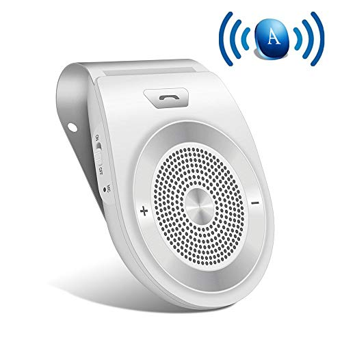 Bluetooth Car Speaker with Siri,Bluetooth 4.1 Hands-Free Motion AUTO-ON In Car Kit Stereo Music Speaker Wireless Sun Visor Audio Receiver Player Adapter Connect 2 Phones At Same Time by Aivake