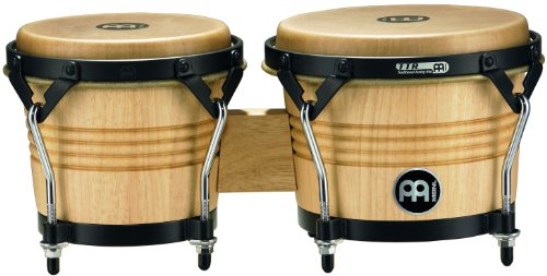 - Meinl Percussion LC300NT-M Artist Series Luis Conte Signature Wood Bongos, Natural, 6 3/4-Inch and 8-Inch
