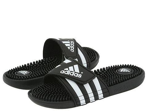(アディダス) adidas レディースサンダル?靴 adissage Black/White 10 27cm B - Medium [並行輸入品]