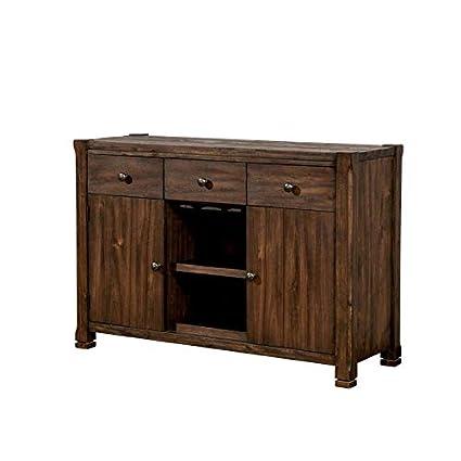 Amazon Com Furniture Of America Tobias Rustic Dining Server In