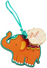 """What else but a color-splashed elephant is eye-catching enough to make an ordinary suitcase stand out on airline luggage carousel? Nothing! That's why this lively """"lucky elephant"""" luggage tag does your guests a very large favor! Journey-ready..."""