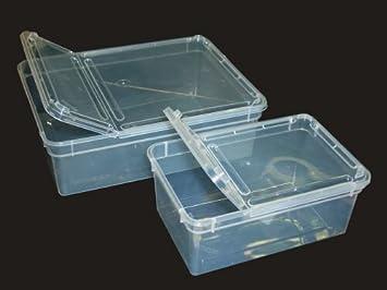 Turbo Kunststoffbox transparent, klein (18x12x7,5 cm) Deckel transparent XY56
