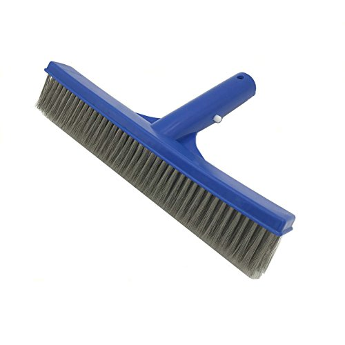 Laza 10 Inch Algae Brush Pool Cleaning Brush with Stainless Steel Bristles for Concrete and Gunite Pools, Walkways, Walls, Tiles and (Classic Pool Tile)