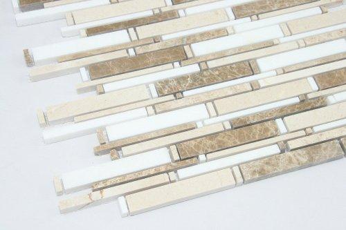 Light Emperador, Thassos White, Cream Marfil - Cream Backsplash Tiles For Kitchen: Amazon.com