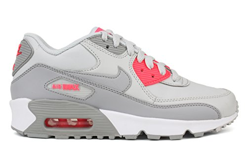 quality design dd8b2 0d9fc Nike Kids Air Max 90 Ltr (GS) Pure Platinum Wolf Grey Running Shoe 5.5 Kids  US