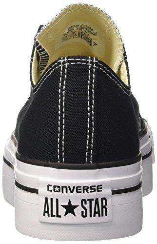 Converse Chuck Taylor All Star Femme Platform Ox, Baskets mode femme Noir