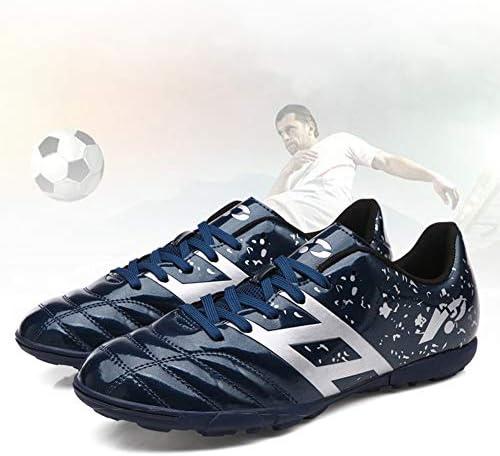 サッカーブーツユニセックスフットボールの靴ティーンエイジャーのトレーニングシューズアウトドアサッカースニーカー滑り止め摩耗防止サッカースポーツシューズ,黒,41