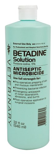 Betadine Solution – 32 ounce, My Pet Supplies